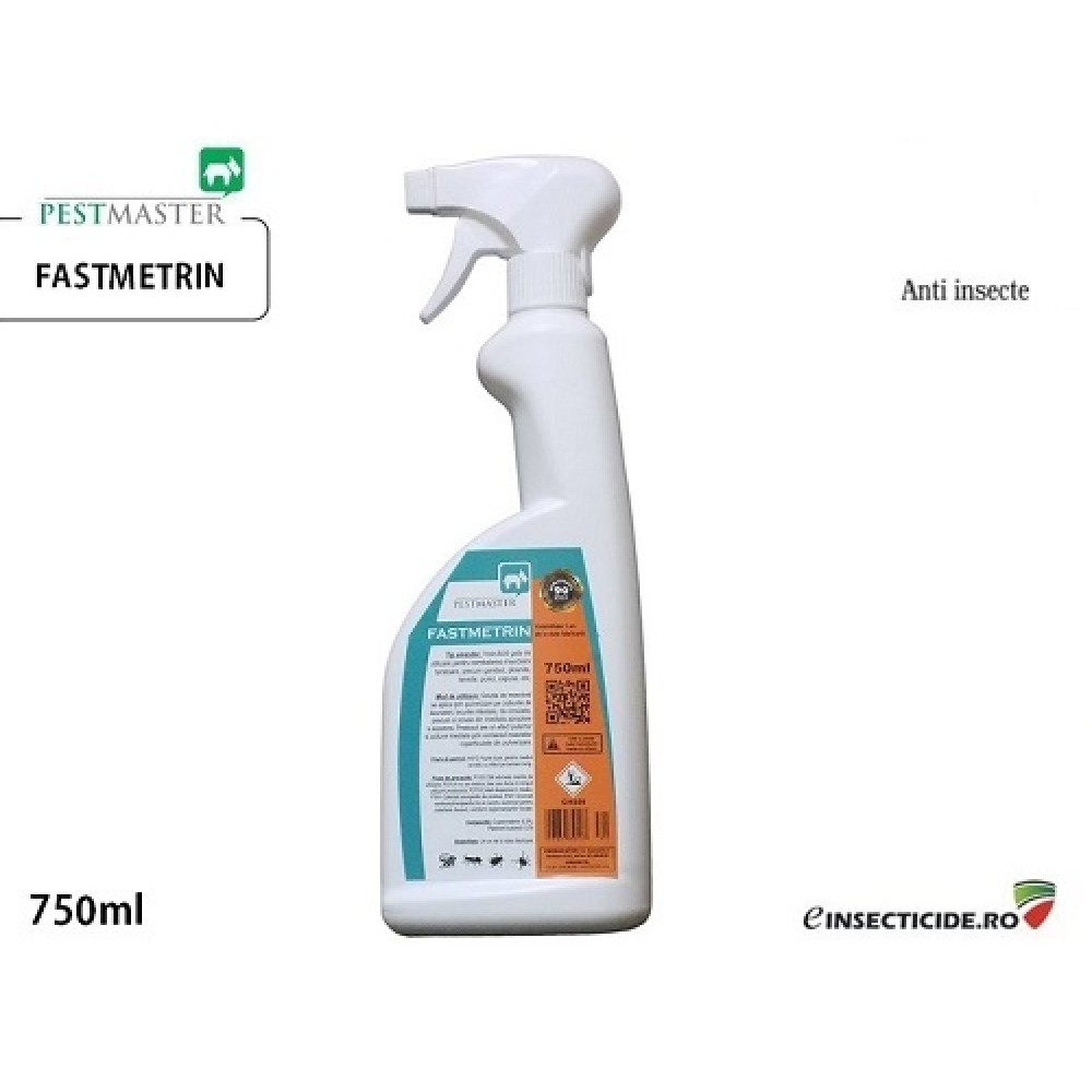 Insecticid profesional impotriva puricilor (750ml) - Pestmaster Fastmetrin