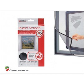 Plasa insecte pentru ferestre alba/neagra (100x130)