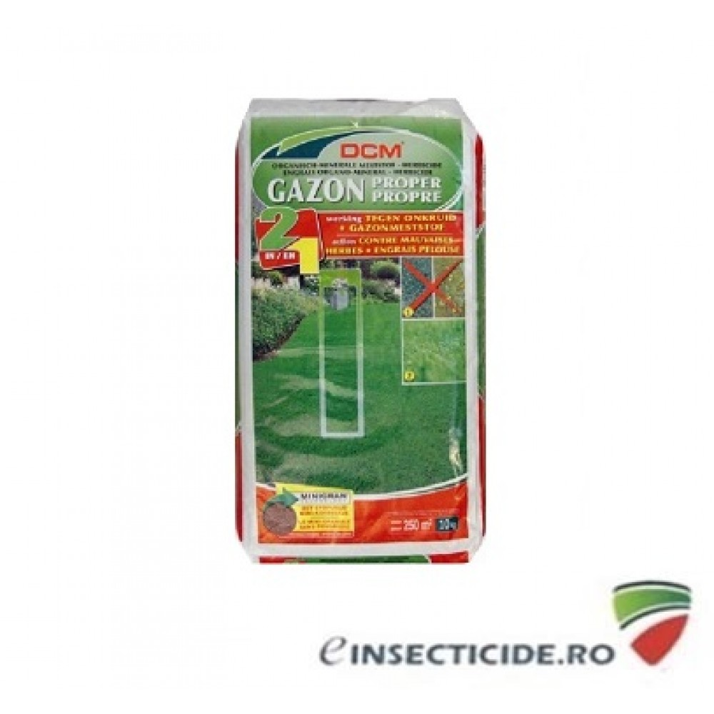 Fertilizeaza gazonul si elimina buruienile cu DCM 2in1  NPK 9-3-6 DCM (10 Kg)