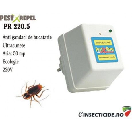 Ultrasunete anti gandaci de bucatarie si alte insecte (50mp) - PR 220.5