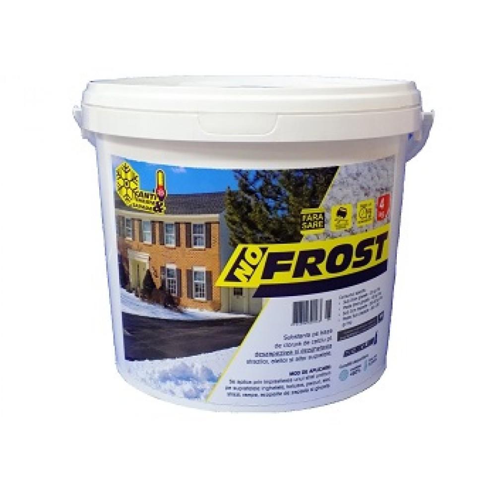 Prevenire si combatere gheata, dezghetare rapida, antiderapant 4kg - No Frost