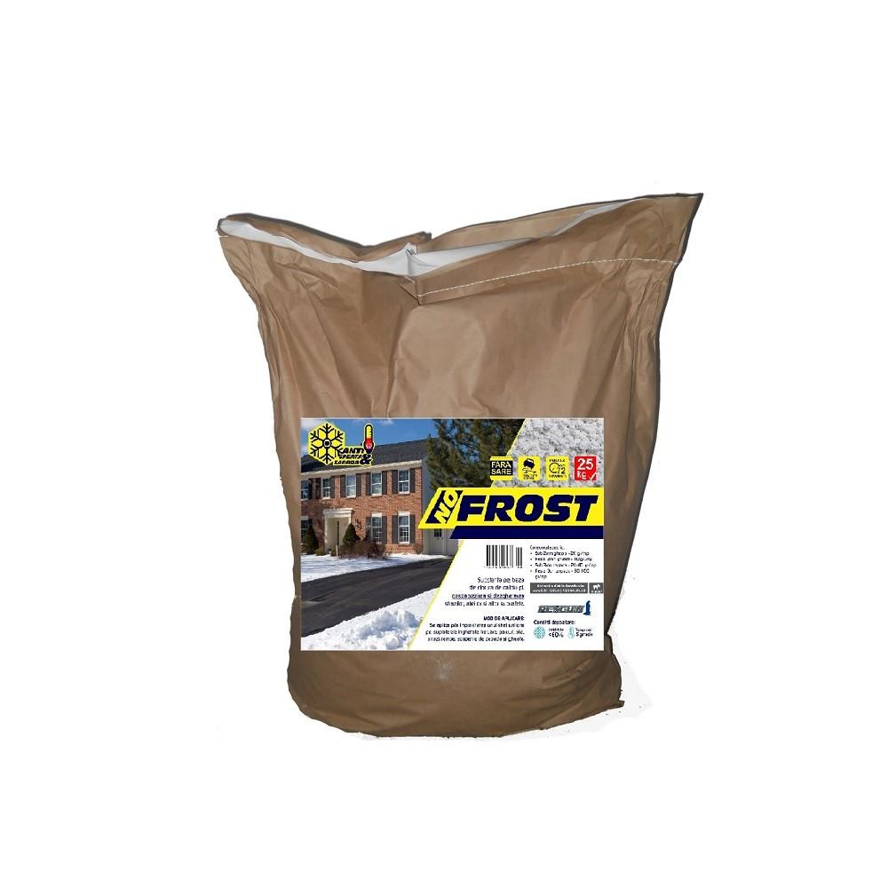 Prevenire si combatere gheata, dezghetare rapida, antiderapant 25kg - No Frost