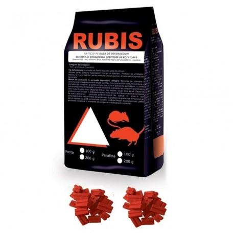 Parafina raticida contra rozatoarelor (10kg / 30gr-plicul) - Rubis