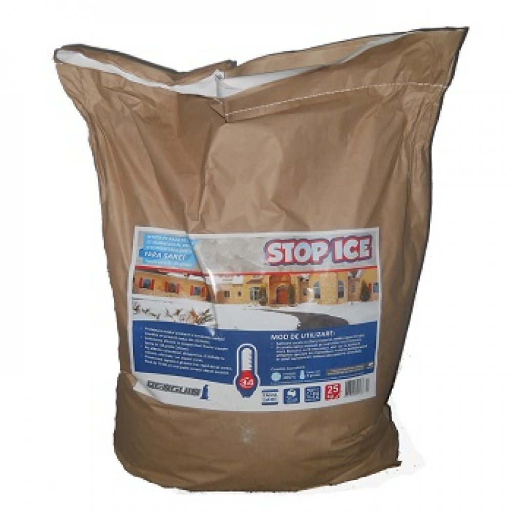 STOP ICE-produs biodegradabil pentru prevenire / combatere gheata (25kg)