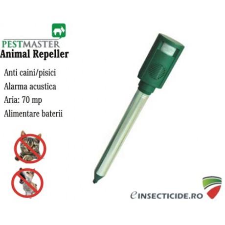 Aparat Animal Repel cu senzor de miscare si alarma acustica anti caini (70 mp)