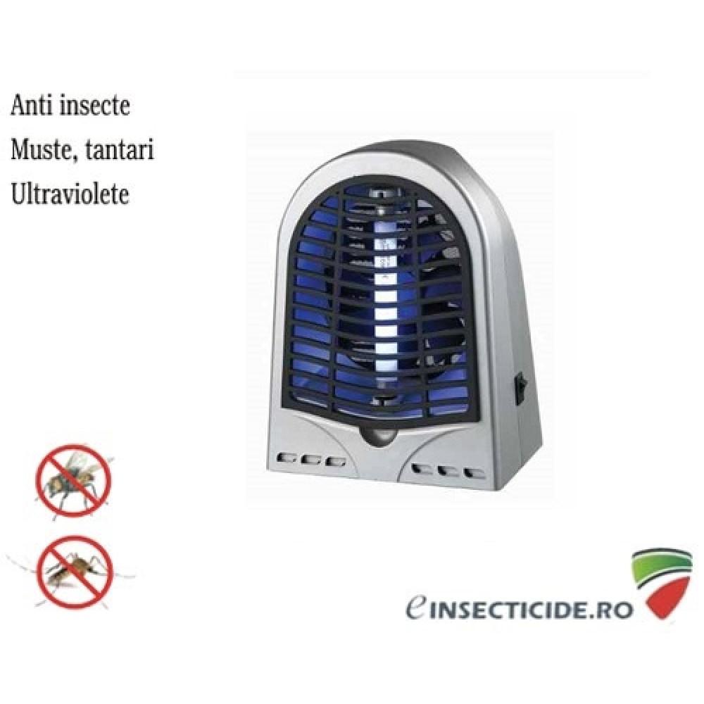 Aparat anti insecte cu lampa UV (1x4W) si ventilator GH-4 (50 mp)