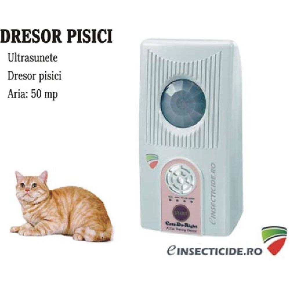 Cats do Right dispozitiv cu ultrasunete pentru dresarea / alungarea pisicilor (50mp)