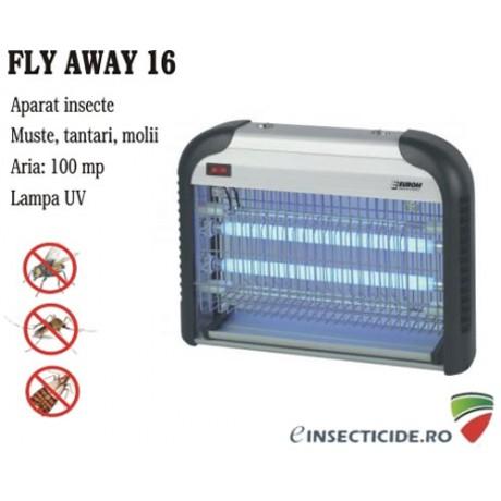 Elimina insectele zburatoare cu aparatul Fly Away Metal 16 - (100 mp)