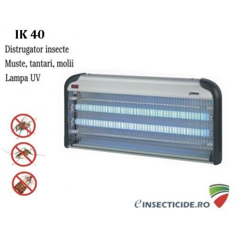 Distrugator insecte cu lumina ultravioleta - IK 40 (250 mp)