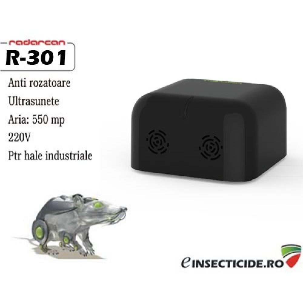Dispozitiv ultrasunete antisoareci profesional (500mp) - Radarcan R-301