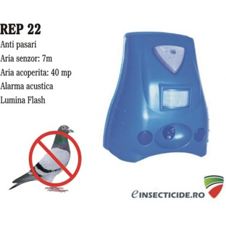 Aparat anti-pasari cu alarma acustica si senzor de miscare - REP 22 (40 mp)