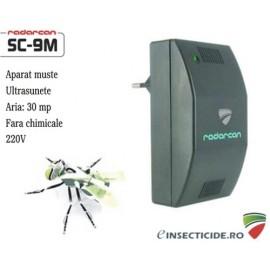 Dispozitiv cu doua emitatoare de ultrasunete pe frecvente anti muste (30mp) - Radarcan SC9M