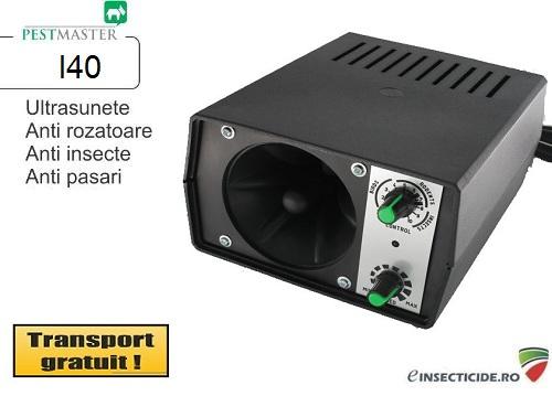Dispozitiv multifunctional (profesional) cu ultrasunete anti soareci, Pestmaster I40