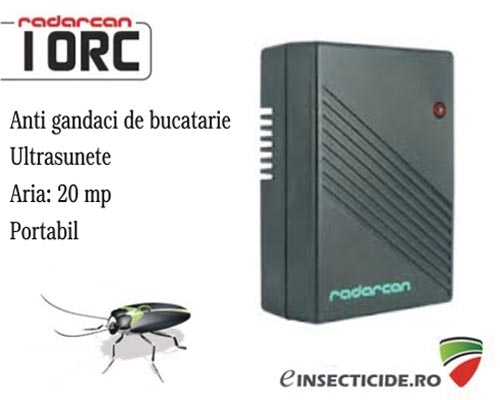 Radarcan 10RC dispozitiv electronic portabil generator de ultrasunete anti gandaci (20mp)