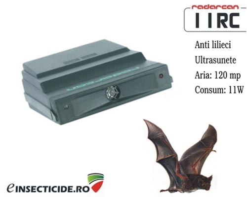 Dispozitiv electronic cu ultrasunete anti lilieci (120 mp) - Radarcan 11RC