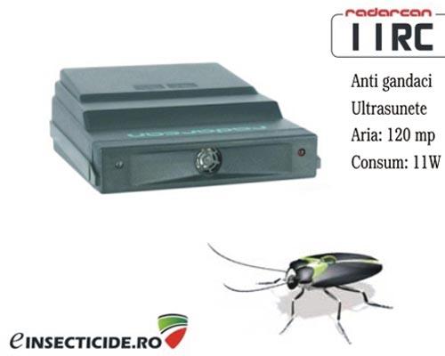 Dispozitiv cu ultrasunete anti gandaci de bucatarie (acopera 120 mp) - Radarcan 11RC