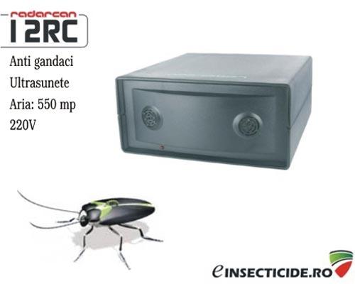 Scapa de gandaci cu aparatul profesional cu ultrasunete (acopera 500mp) - Radarcan 12RC