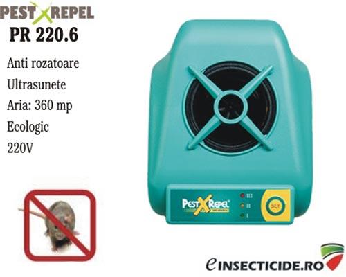 Aparat contra soarecilor cu ultrasunete (360mp) - PR 220.6