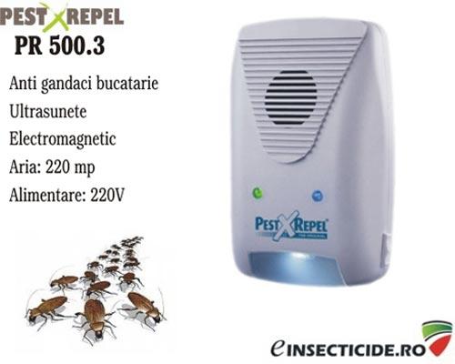 Dispozitiv cu unde electromagnetice anti gandaci de bucatarie si rozatoare (220mp) - PR 500.3
