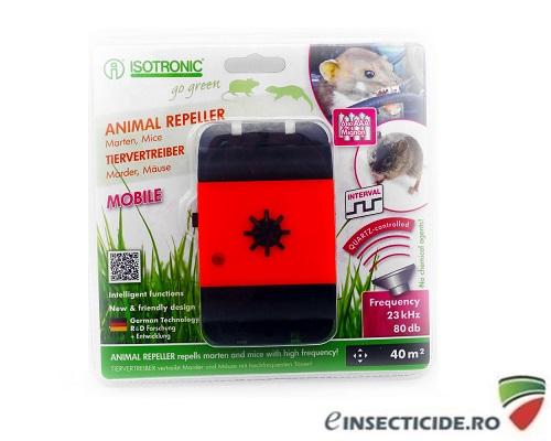Aparat mobil pentru protectia automobilelor impotriva daunatorilor (soareci, sobolani, jderi, dihori) - Animal Reppeler Mobile 78480 (40mp)