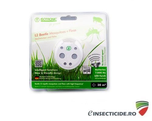 Aparat cu ultrasunete portabil impotriva purecilor si tantarilor - L2 Beetle 70505 (30mp interior)/(6mp exterior)