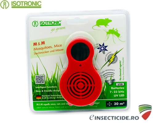 Isotronic M&M 77010 dispozitiv portabil cu ultrasunete anti sobolani 30mp