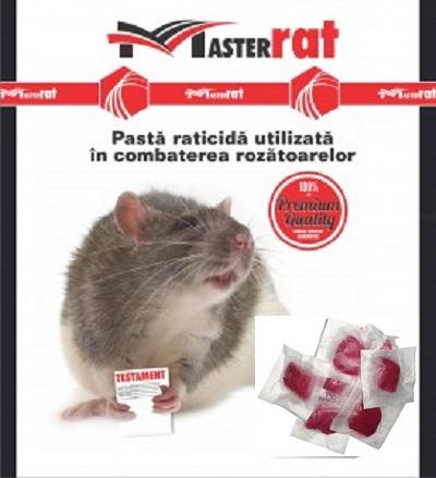 Pasta raticida de culoare rosie contra soarecilor (100gr) - MasterRat