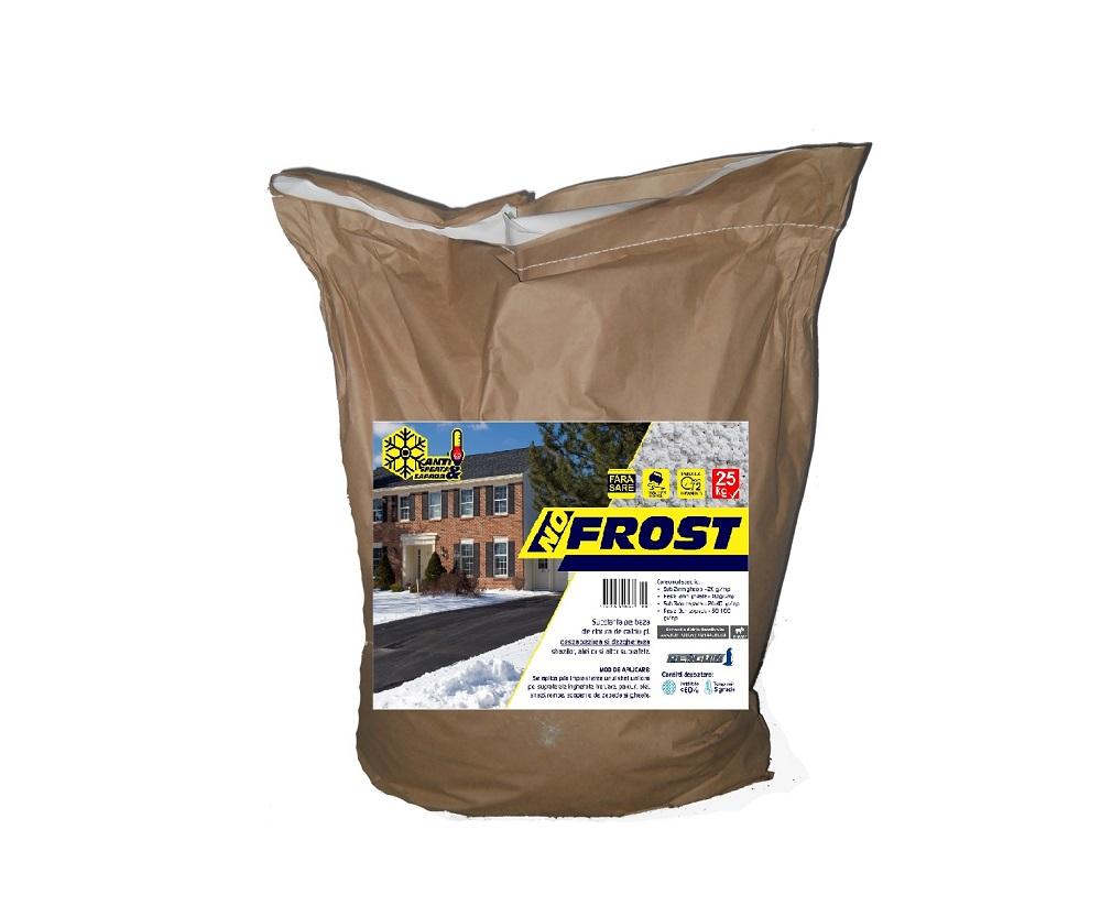 Prevenire si combatere gheata, dezghetare rapida, antiderapant (25kg) - No Frost