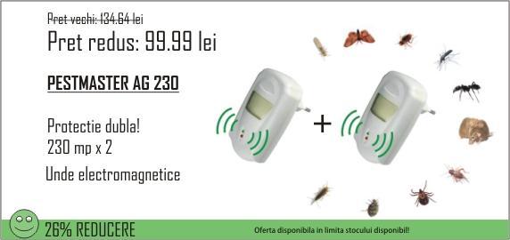 PROMOTIE! Anti rozatoare si gandaci de bucatarie Pest Repeller AG230 (2 aparate la 99.99 lei)
