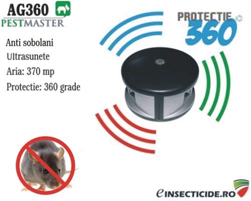 Anti sobolani si alte rozatoare cu ultrasunete (370mp) Pestmaster AG360