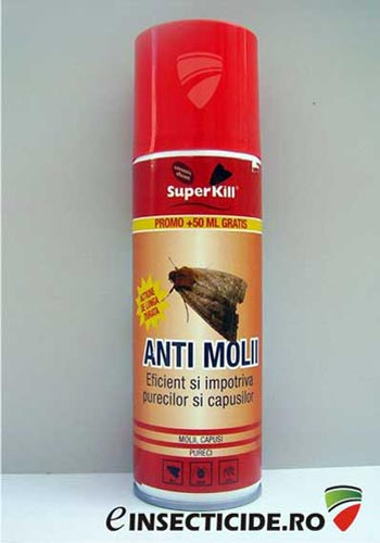 Spray anti molii insecticid sub forma de aerosol pt. protectia hainelor (200ml) - Super Kill