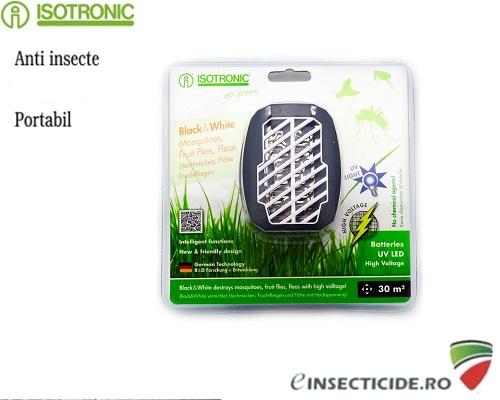 Dispozitiv portabil impotriva puricilor (30mp) - Isotronic Black White 25160