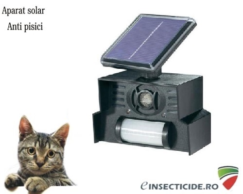 Aparat solar anti pisici cu senzor de miscare