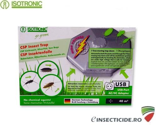 CSP 77030 Capcana pt. interior cu lamele electrice anti insecte, gandaci si gandaci de canal 40mp