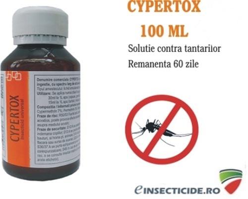 Dezinsectie cu insecticidul profesional cu efect de soc si remanenta 60 de zile (100 ml) - Cypertox