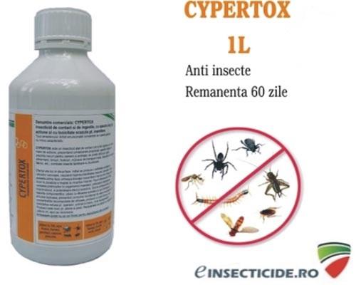 Solutie de contact contra insectelor Cypertox 1400 mp