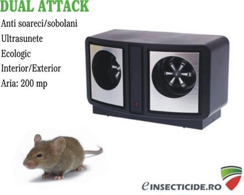 Aparat soareci cu ultrasunete Dual Attack - (200 mp)