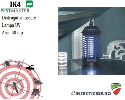 Alunga tantarii si mustele cu ultraviolete - Pestmaster IK 4 (40 mp)