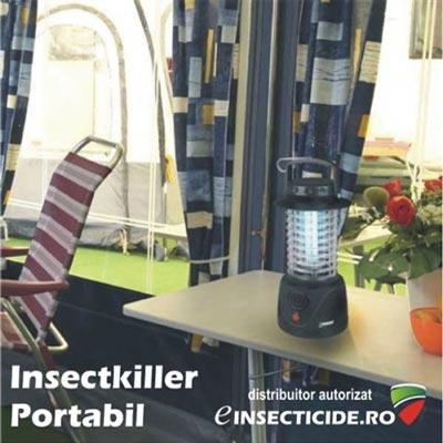 Dispozitiv portabil cu ultraviolete anti tantari si muste (40mp) - Insectkiller portabil