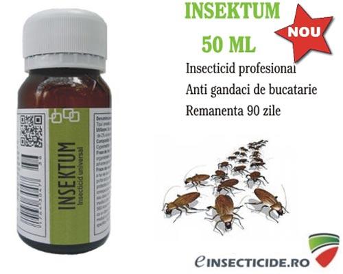Insecticid profesional Insektum impotriva gandacilor de bucatarie - 50 ml