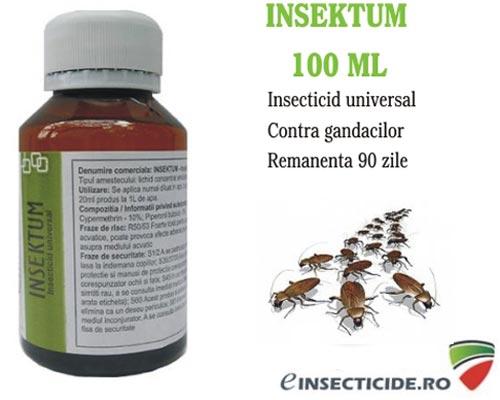 Insecticid impotriva gandacilor de bucatarie, remanenta 90 de zile - Insektum 100 ml