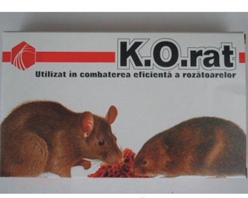 Impotriva soarecilor momeala raticida (350g) - K.O.RAT