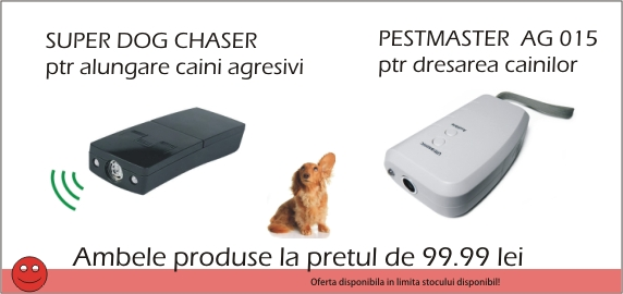 Super Dog chaser aparat indepartare caini + AG015 dresarea cainilor