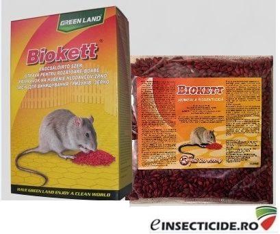 Rodenticid sub forma de boabe de cereale impregnate (200gr) - BIOKETT PAK
