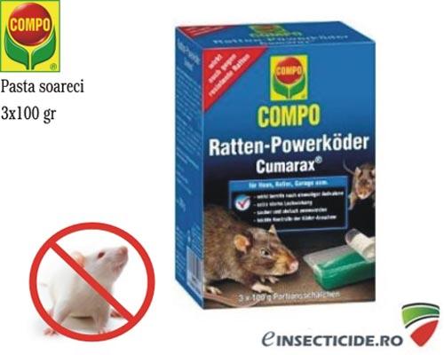Raticid pasta impotriva soarecilor si sobolanilor (3x100gr) - Cumarax