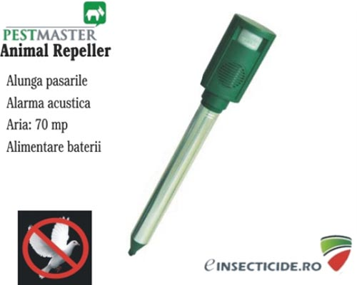 Aparat anti daunatori cu alarma acustica - Animal Repeller (70 mp)