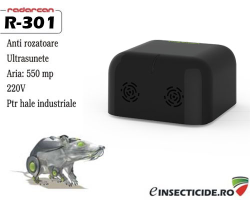 Dispozitiv ultrasunete antisoareci profesional (500mp) - Radarcan R-301