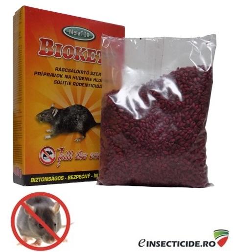 Rodenticid sub forma de boabe de cereale impregnate (400gr) - BIOKETT