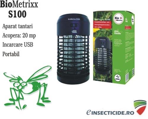 Lampa cu UV anti insecte portabil - Biometrixx S100