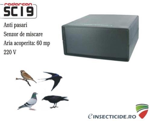 Indeparteaza pasarile cu aparatul profesional Radarcan SC19 (100 mp)